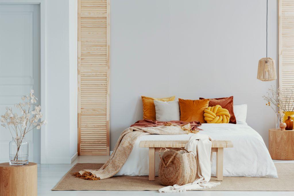 Orange Pillows Bedroom
