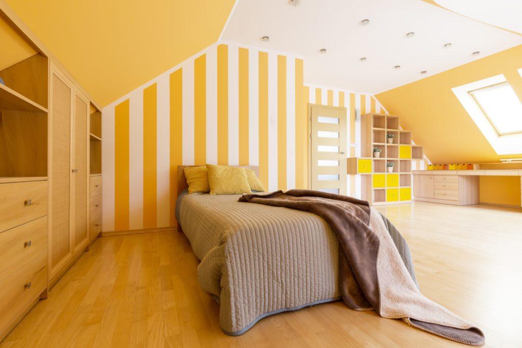 Orange Stripes Bedroom