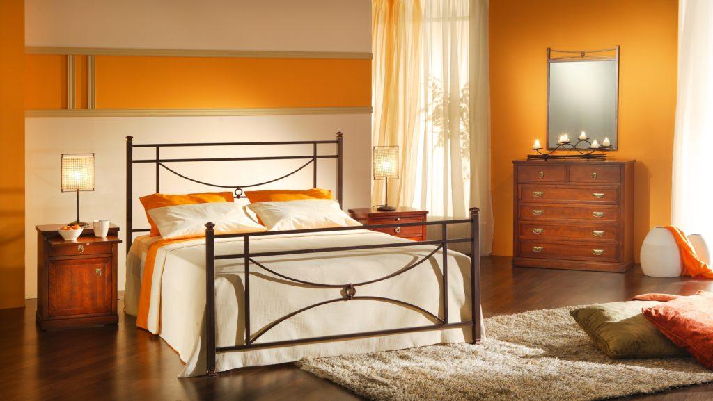 Orange Walls Bedroom