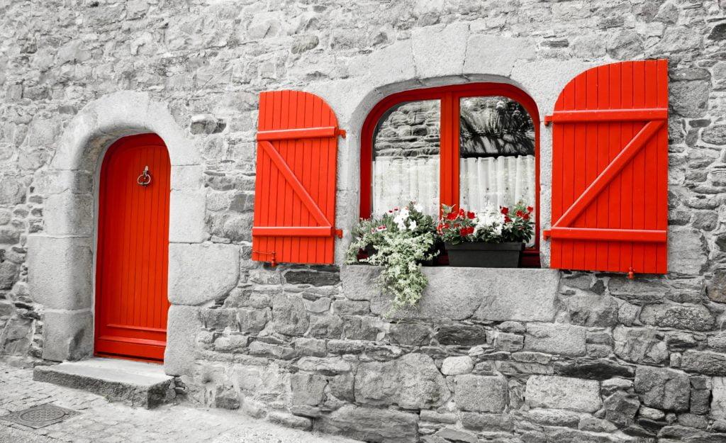 Red Door Stone House
