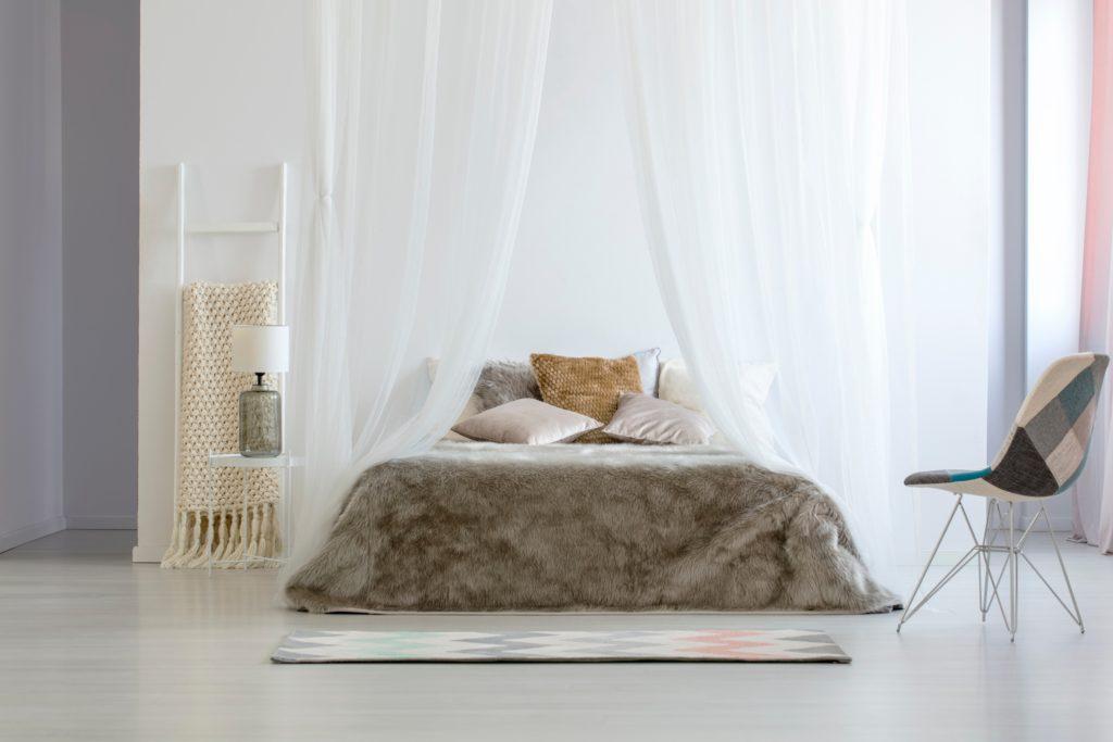 Silver Comforter Bedroom
