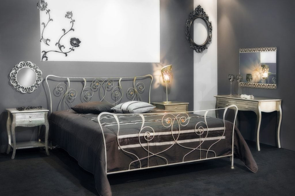 Silver Walls Bedroom
