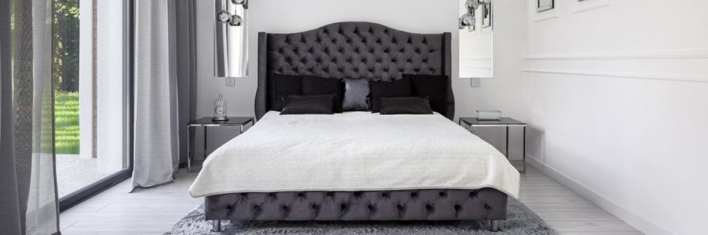 Silver and Black Bedroom