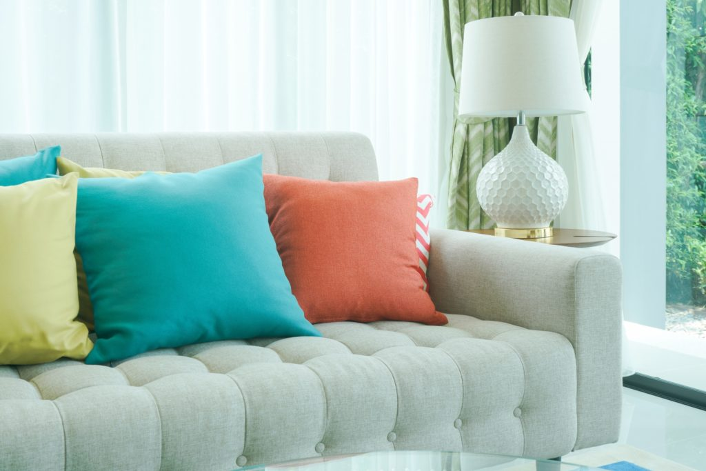 Teal Pillows Living Room