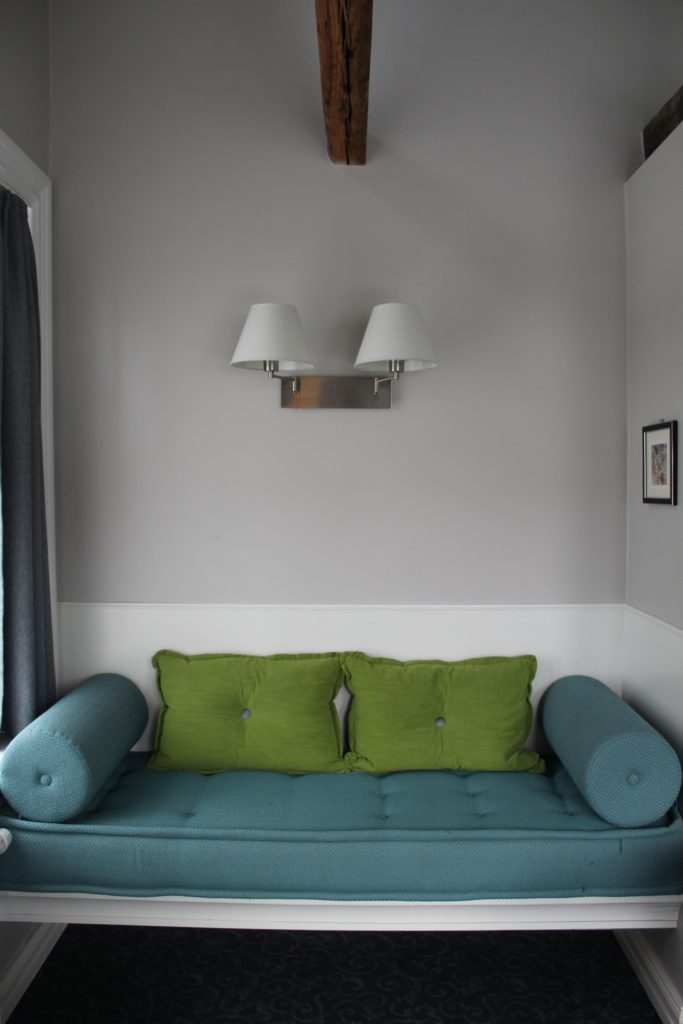 Teal and Green Living Room