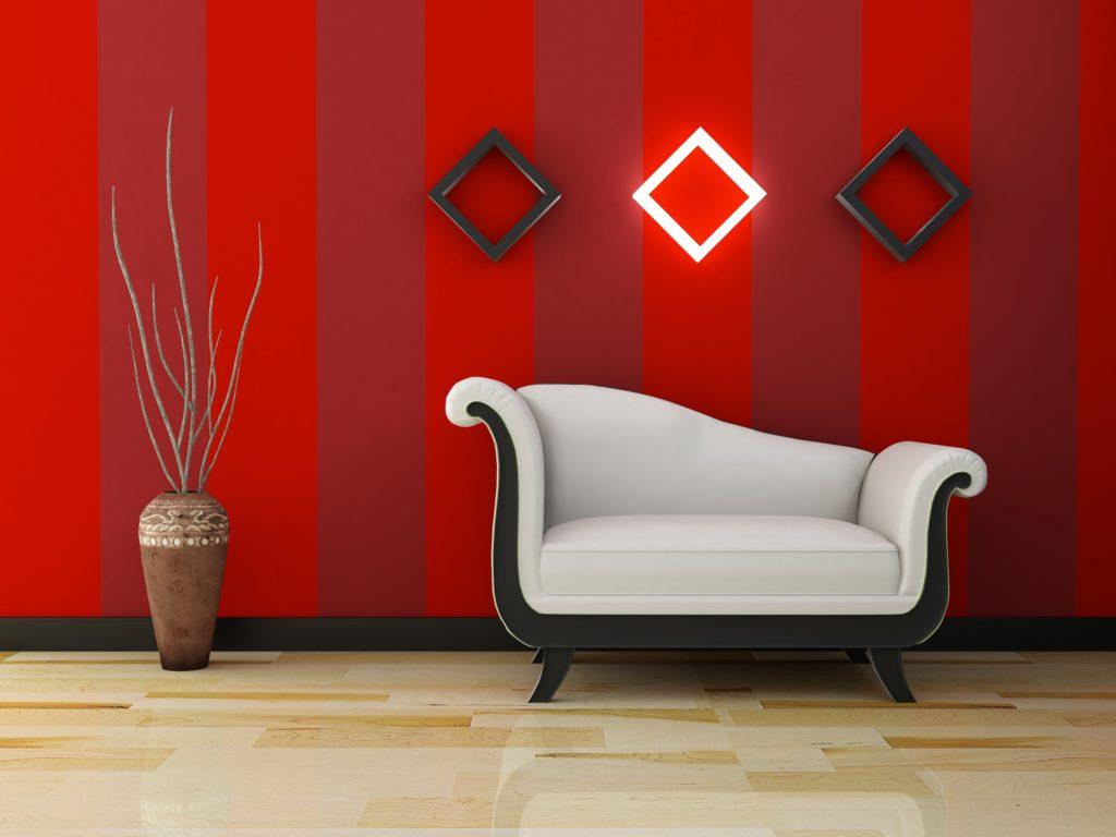 Vertical Red Lines Wallpaper