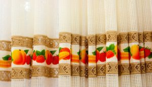 burlap kitchen curtains
