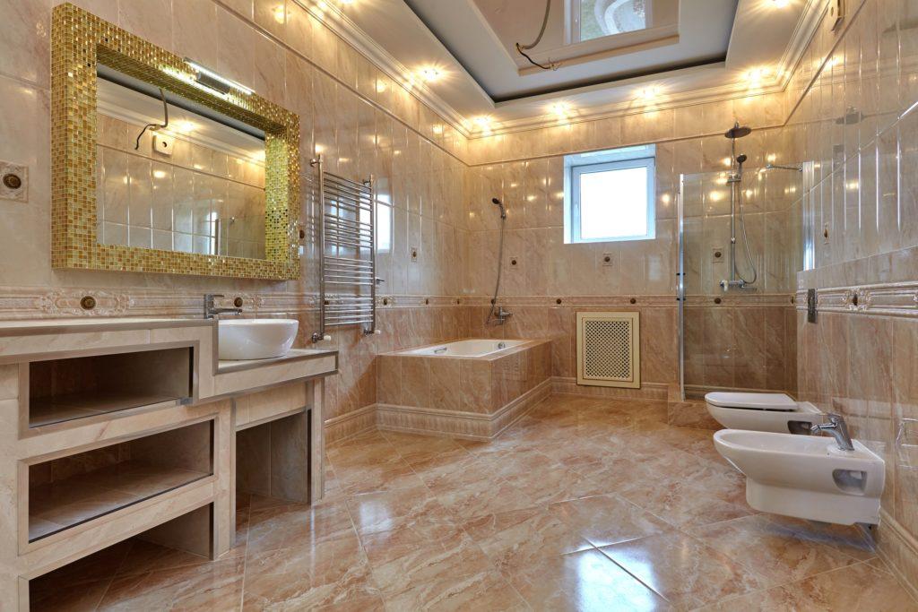 Beige Mansion Bathroom