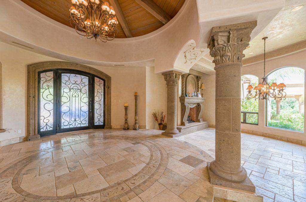 Beige Mansion Entrance