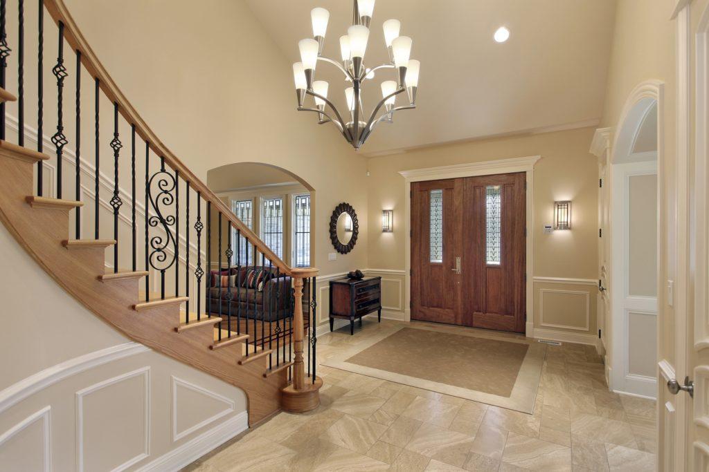Beige Mansion Foyer