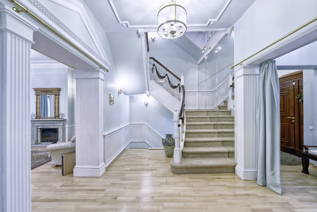 Beige and White Foyer