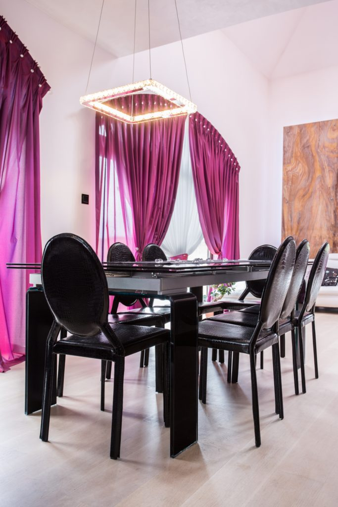Black Dining Room