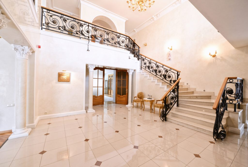 Black Staircase Mansion Entrance