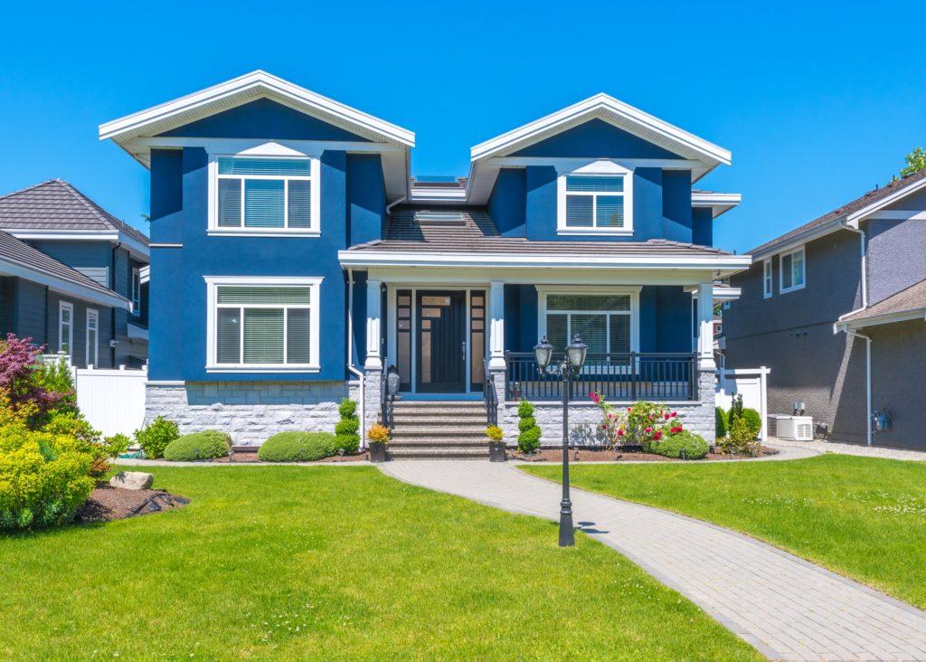 Blue House Entrance