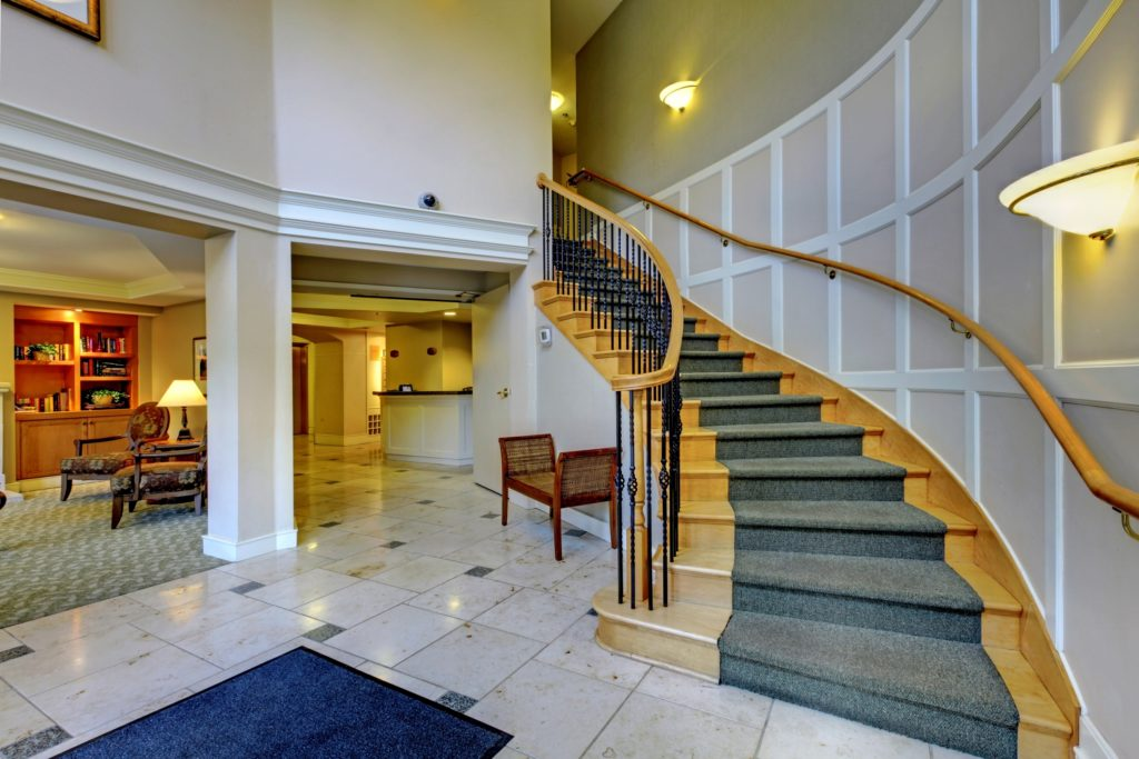 Blue Staircase Foyer