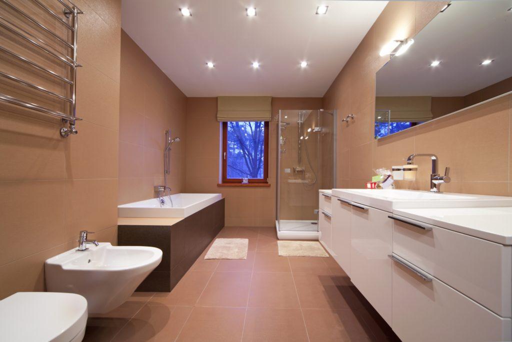 Brown Designer Bathroom