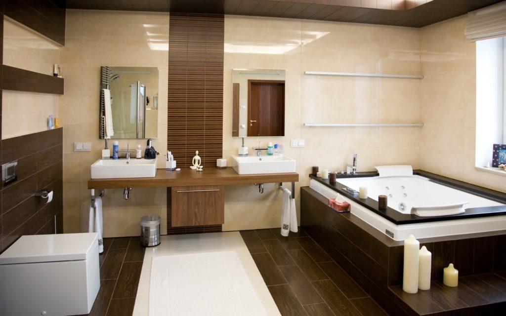 Brown Mansion Bathroom