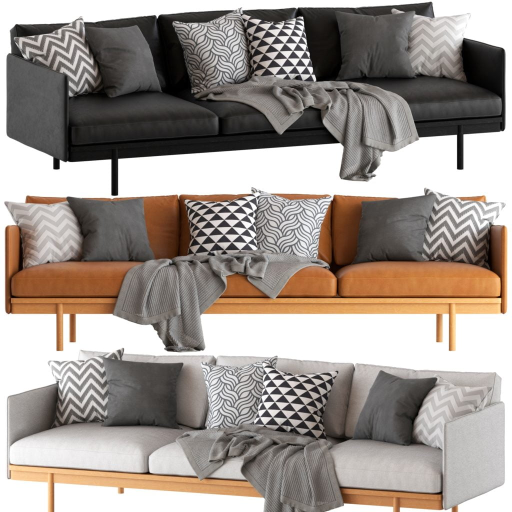 Brown Tones Are the New Neutral Featured with Traditional Hued Pillows in Smoky Gray & White Toned Bold Geometric Designs