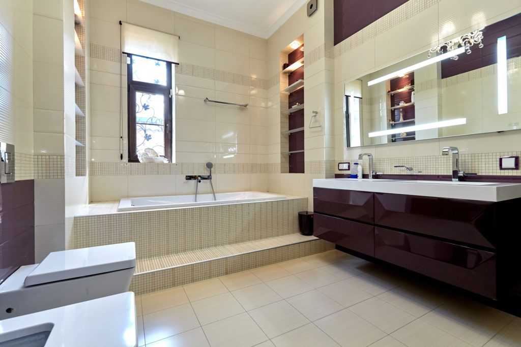 Brown and Cream Bathroom