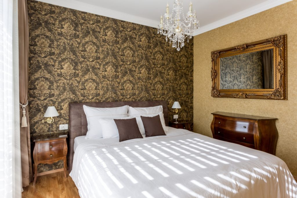 Brown and Gold Bedroom