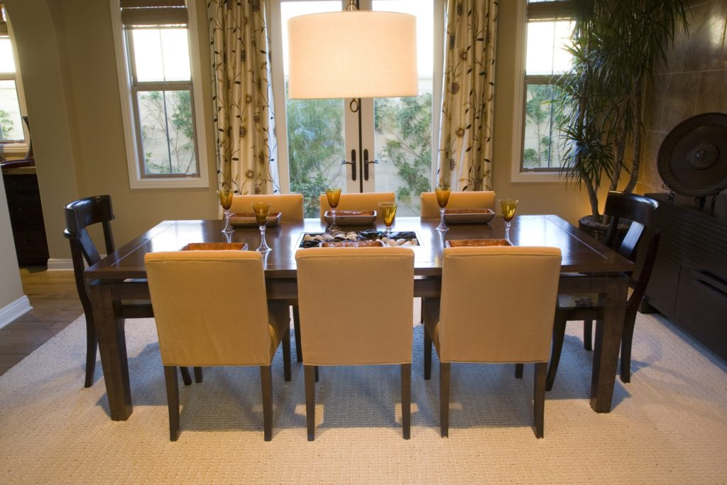 Brown and Tan Dining Room