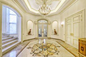 Chandelier Mansion Entrance
