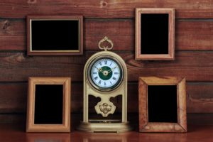 Clocks with Picture Frames Around Them