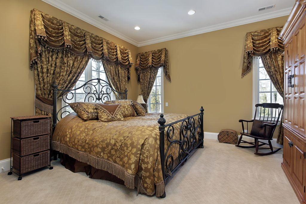 Dark Gold Bedroom