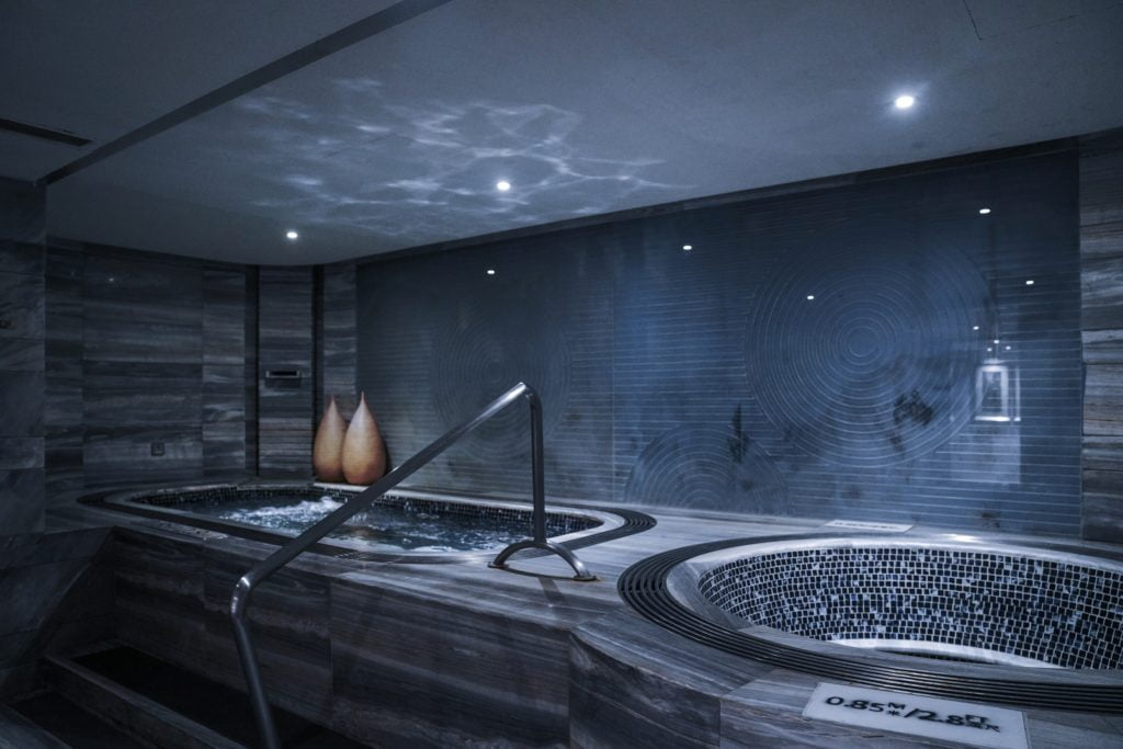 Dark Indoor Pool