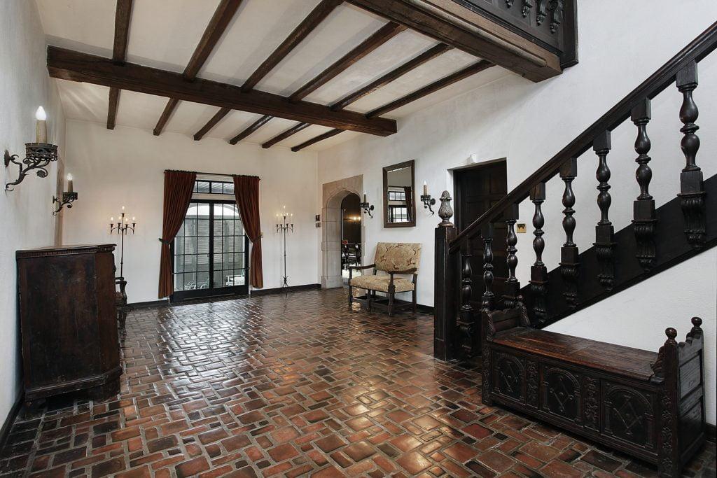 Dark Wood Mansion Foyer