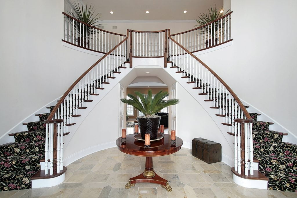 Double Stairs Foyer