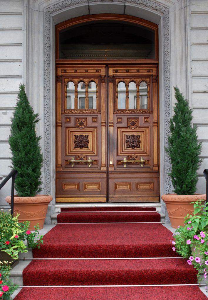 Elegant Mansion Entrance