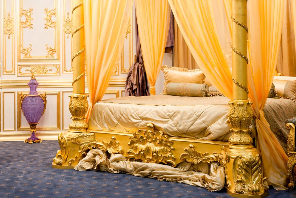 Gold Bed and Walls