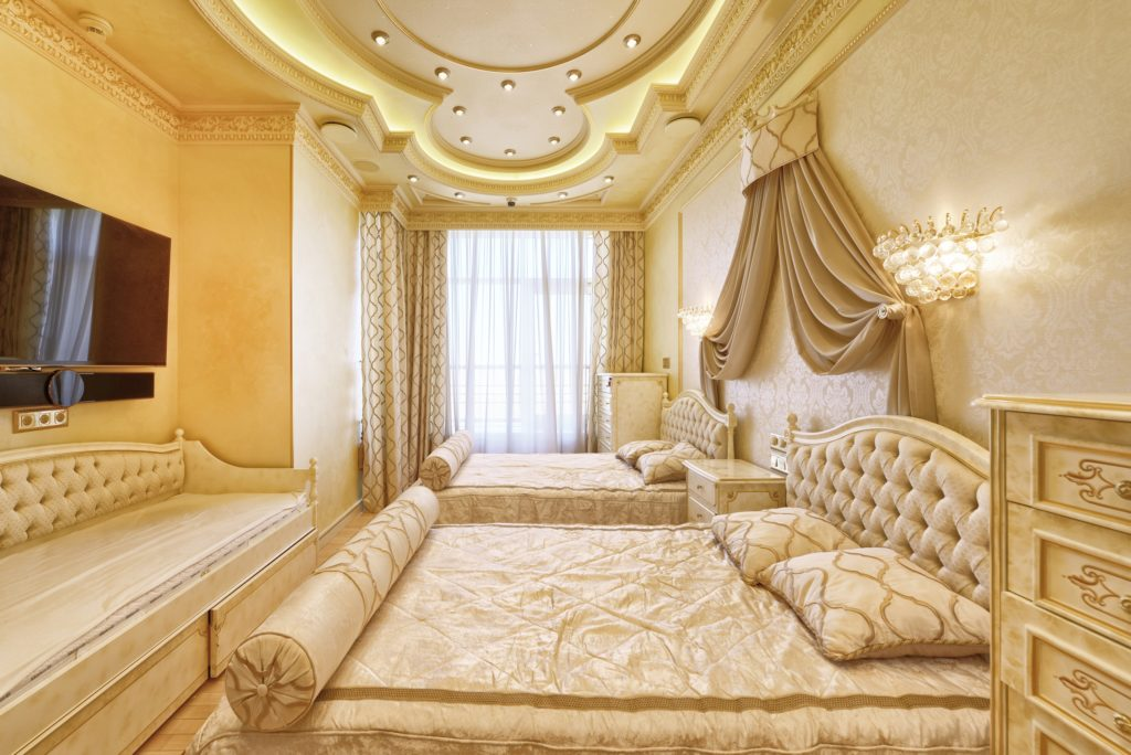 Gold-Decorated Bedroom
