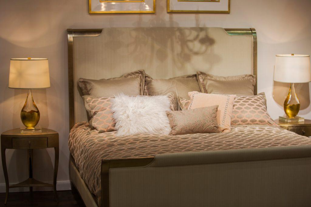 Gold-Designed Bedroom