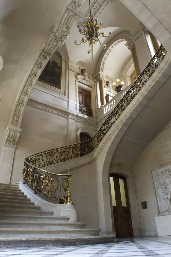 Gold Staircase Foyer