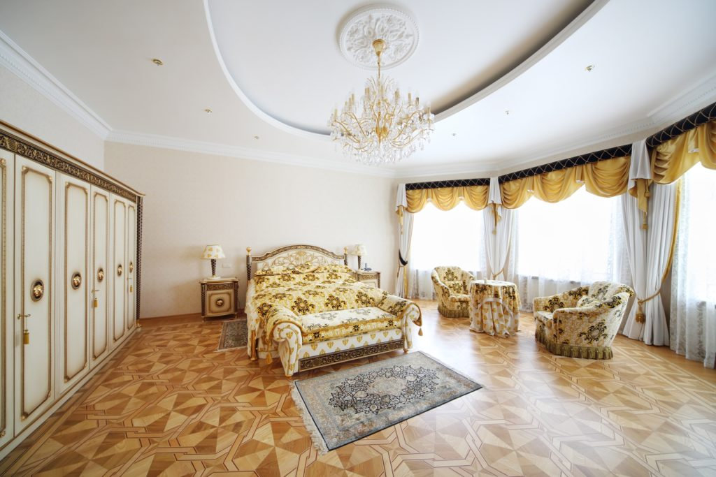 Gold and Brown Bedroom