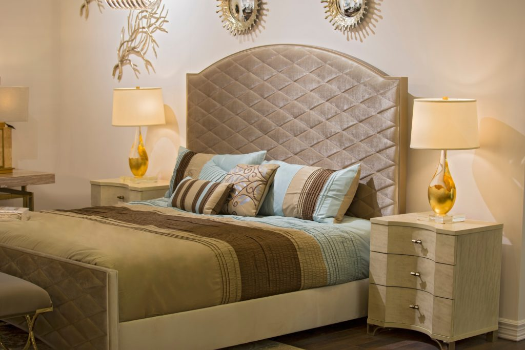 Gold and Tan Bedroom