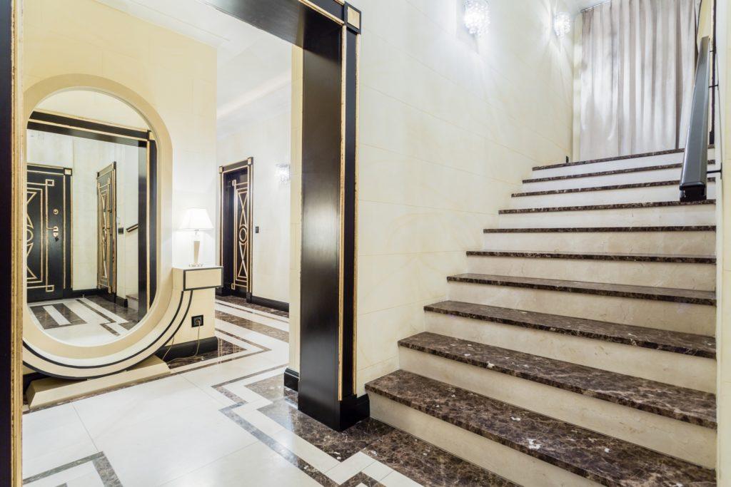 Granite Staircase Foyer