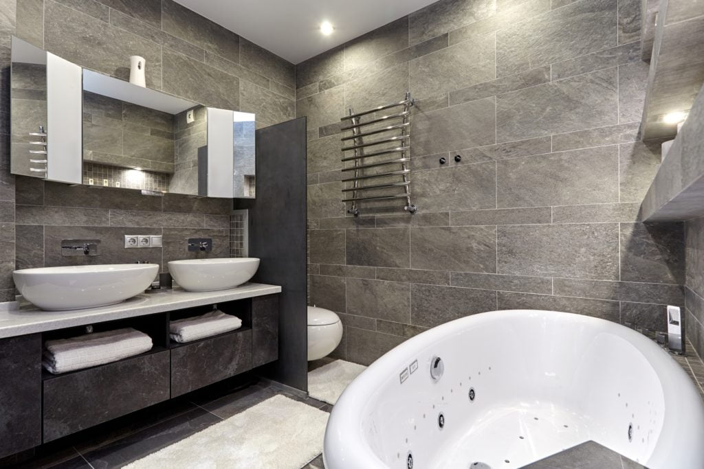 Gray Mansion Bathroom