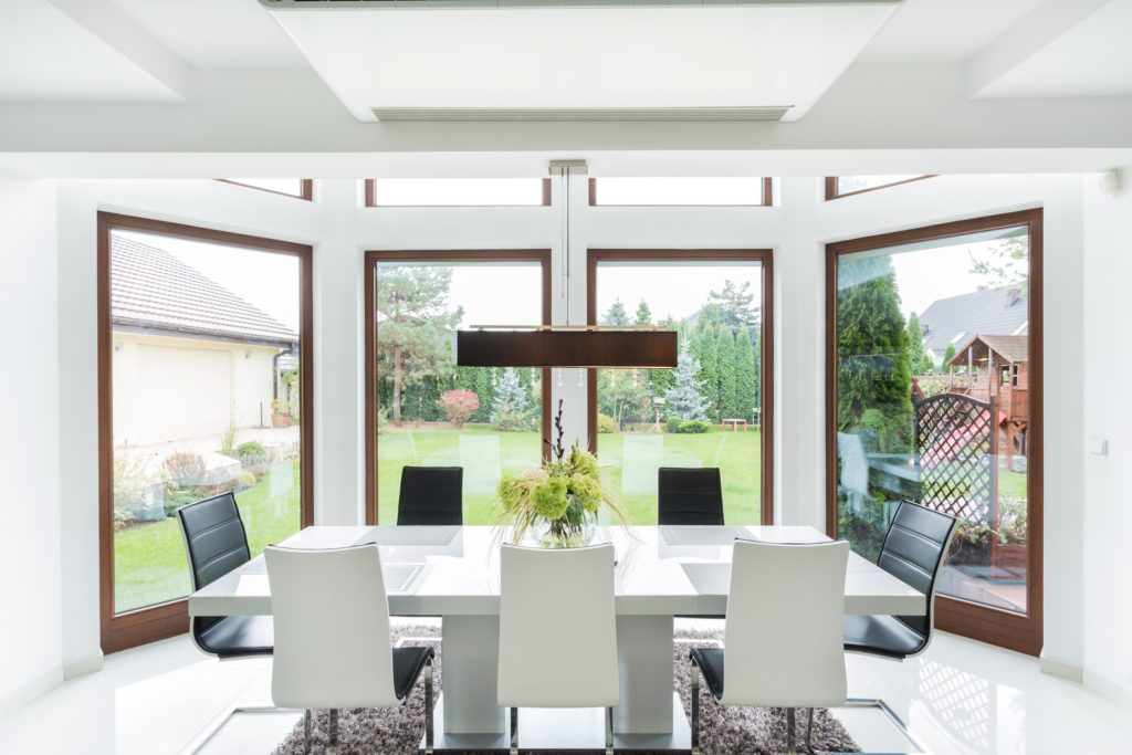 Large Windows Dining Room