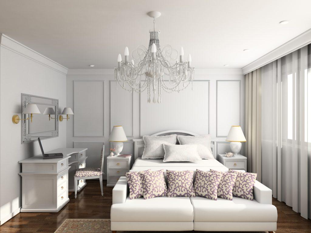 Lavish Mansion Bedroom Design in Light Neutral Shades