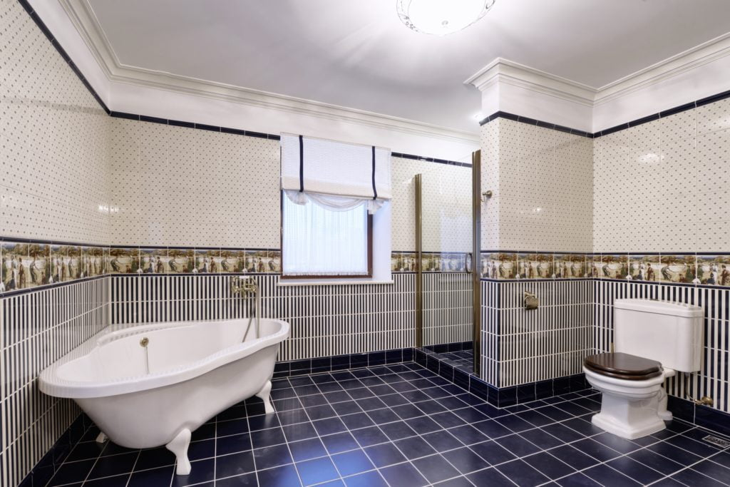 Mansion Bathroom with Tiles