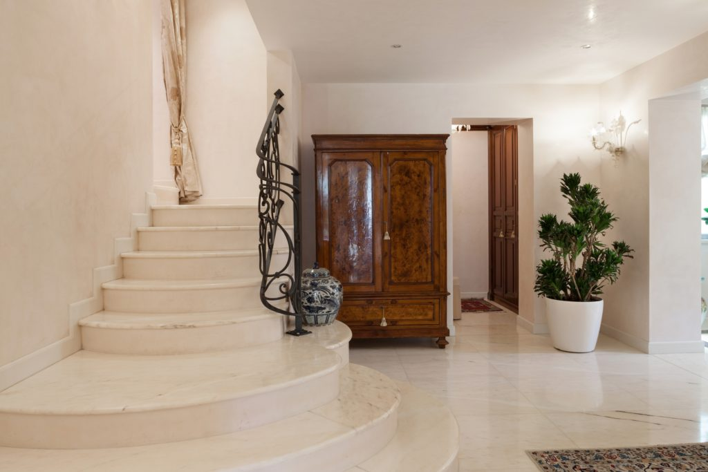 Marble and Wood Foyer