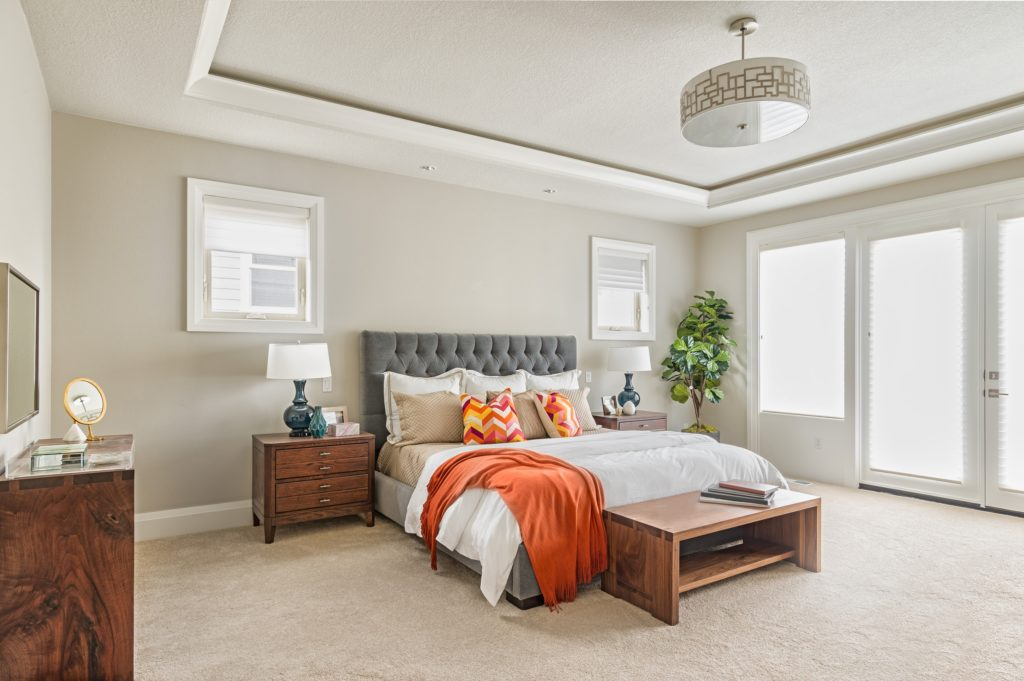 Modern Master Bedroom in a New Luxury Mansion