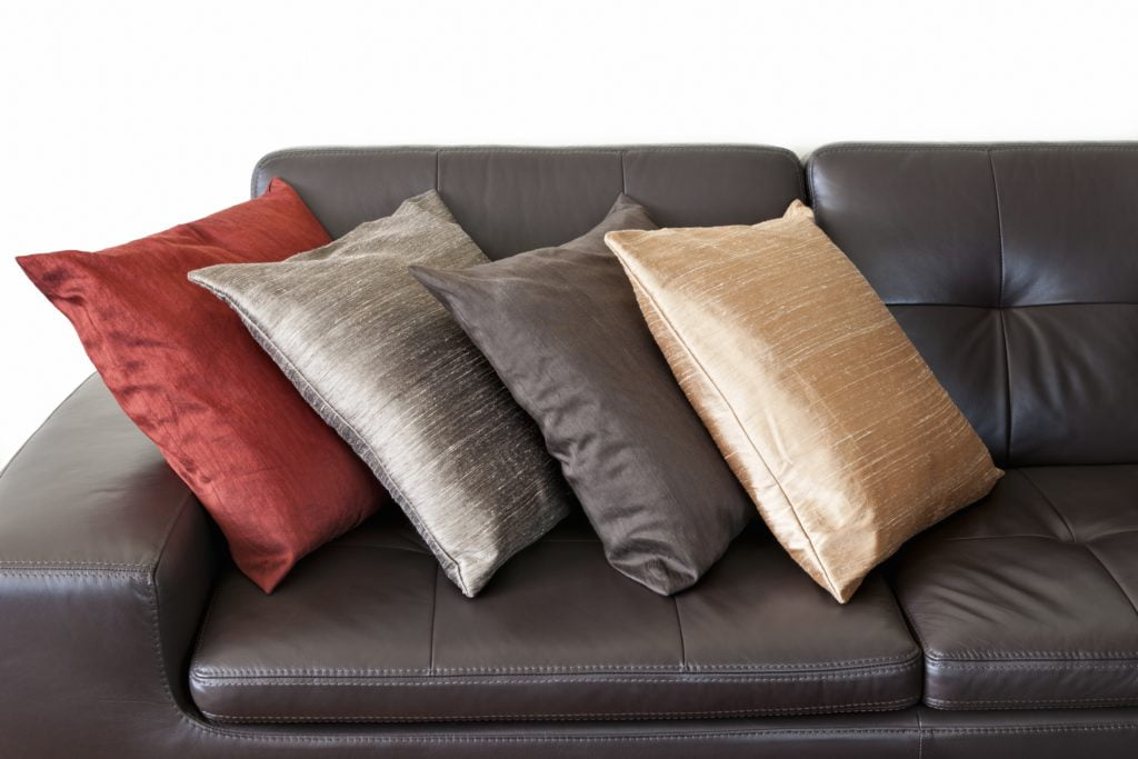 Muted Brick Gold Mushroom & Lighter Beige Throw Couch Pillows