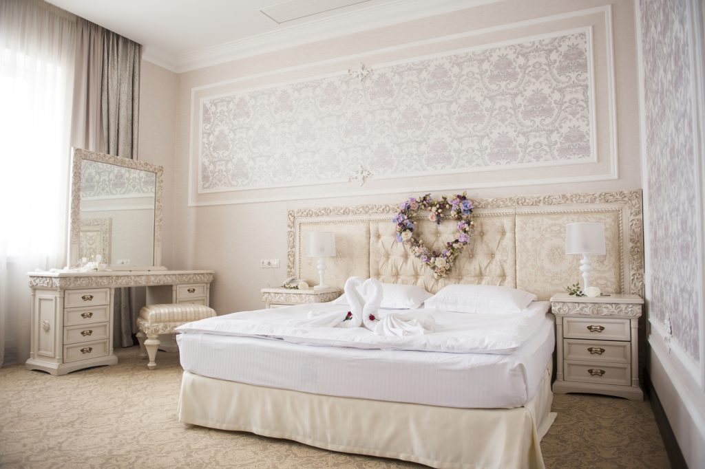 Ornate Mansion Bedroom with Vintage Furnishings and Style