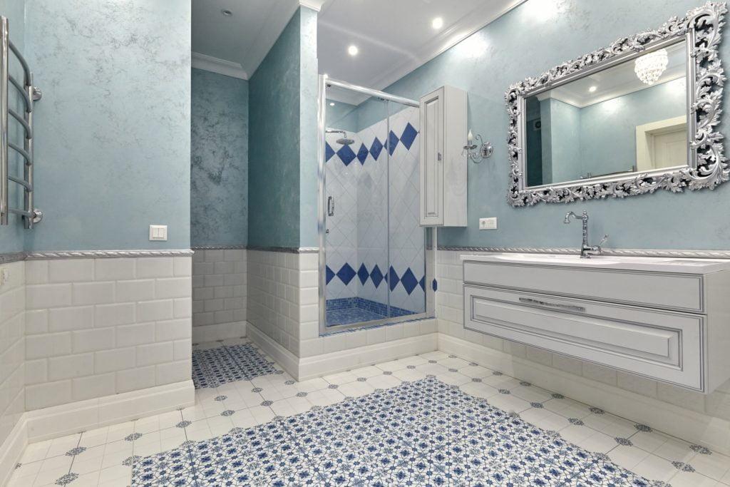 Powder Blue Bathroom
