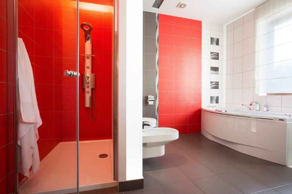 Red Tiles Bathroom