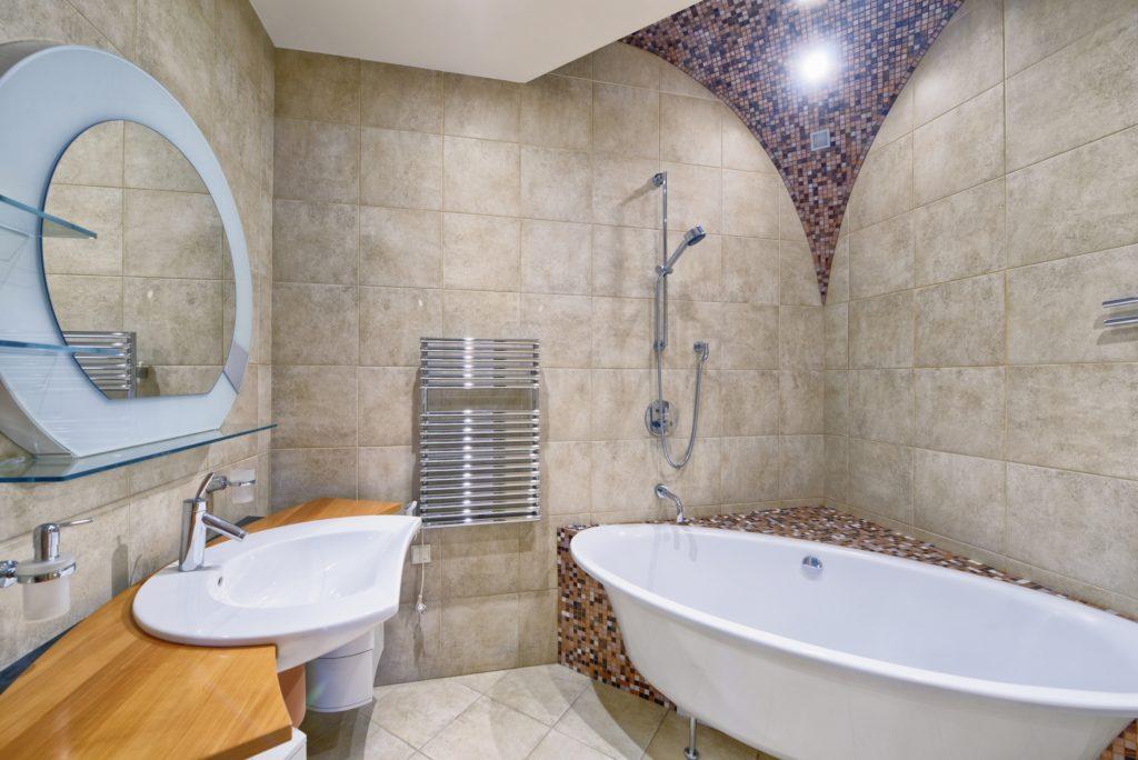 Round Mirror Bathroom